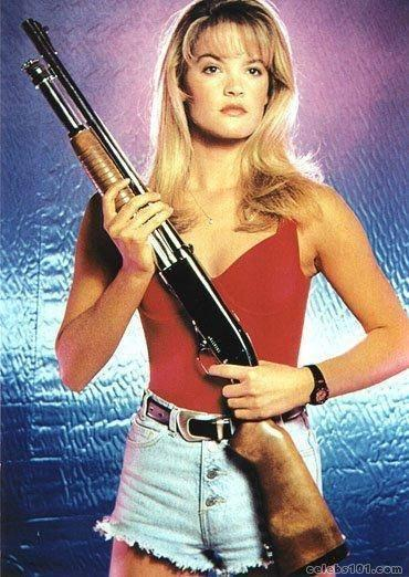 Bridgette Wilson Has A Weapon
