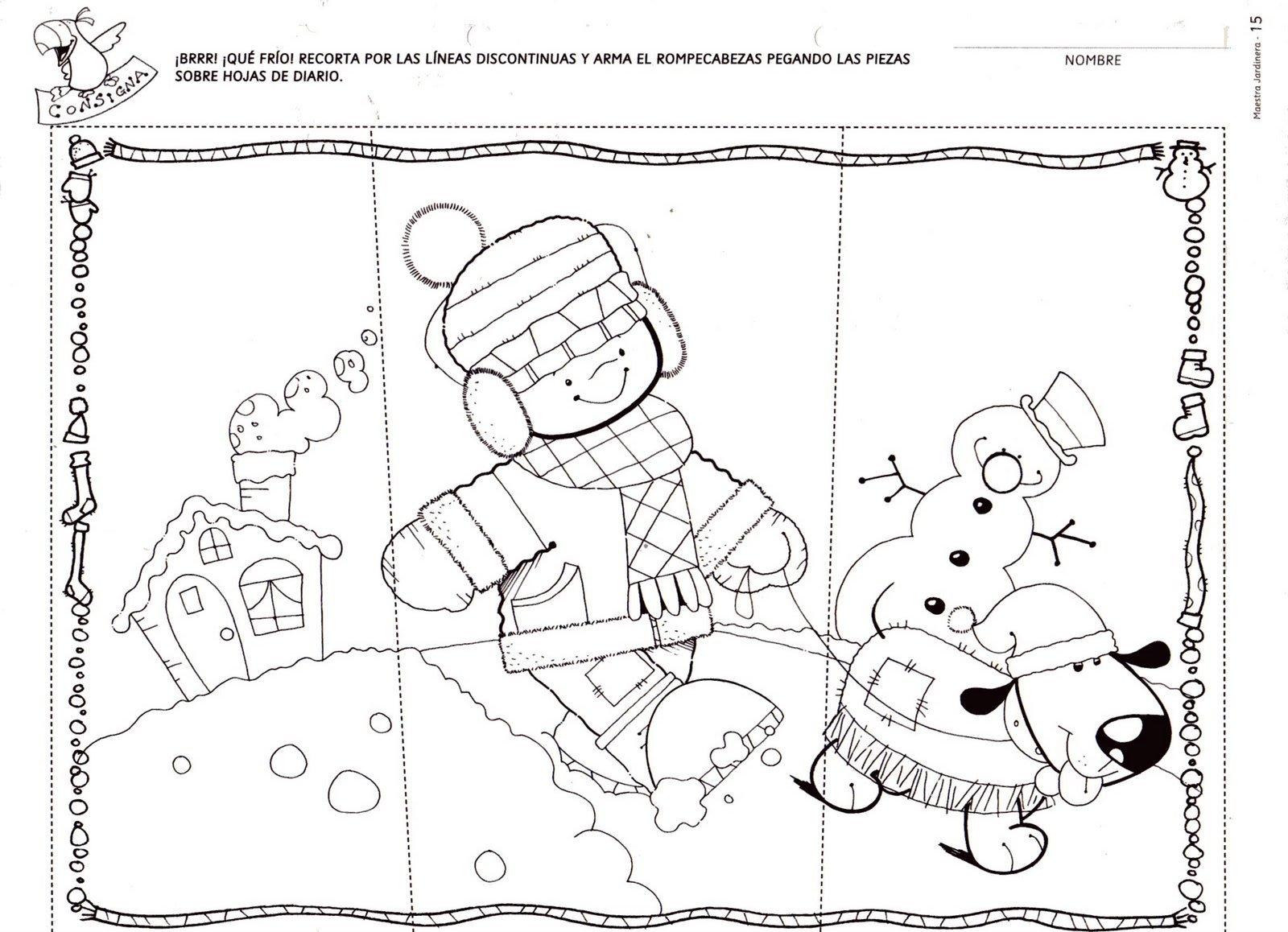 Menta m s chocolate recursos y actividades para educaci n infantil puzzles del invierno - Proyecto el invierno ...