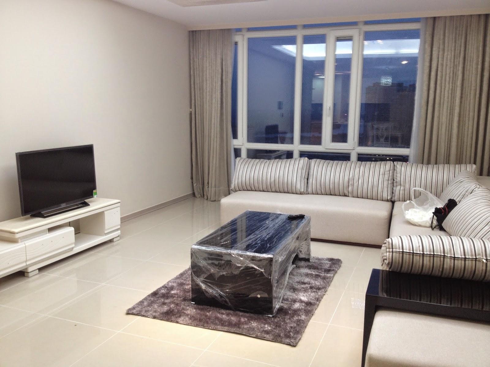 Phòng khách căn hộ Imperia An Phú 3 phòng ngủ cho thuê