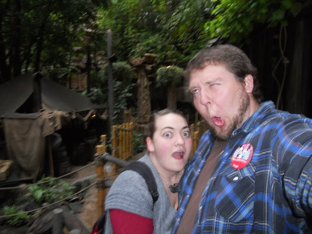 Waiting in line at Disneyland's Indiana Jones