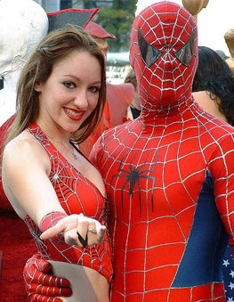 de spiderman parejas disfraces de Halloween divertido