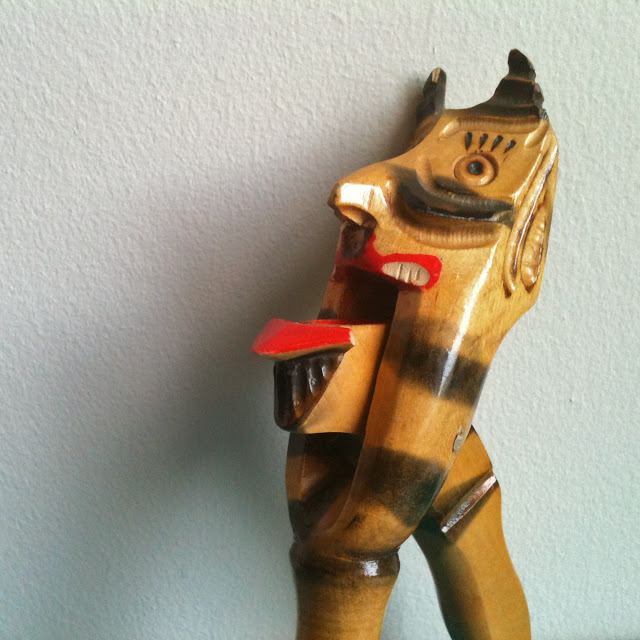 vintage krampus nutcracker devil societ wooden 70s
