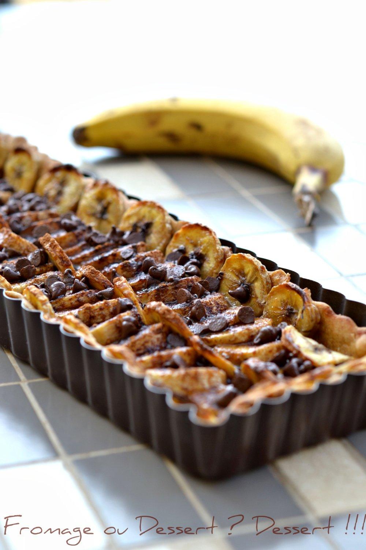 En Equilibre Tarte Banane Et Chocolat Au Doux Parfum De Cannelle