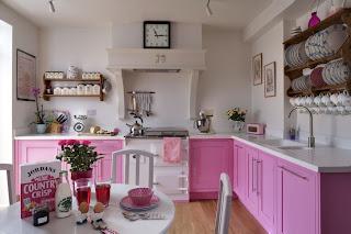 Pink Kitchen Cabinets Design