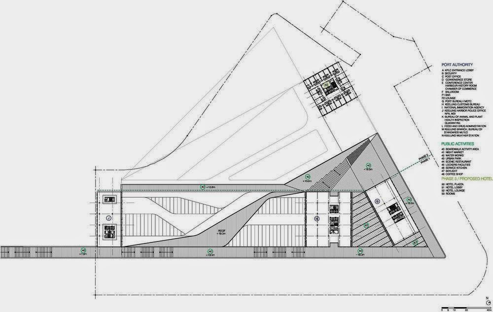 Arcfly keelung new harbour service building phase 2 in for Acdf architecture