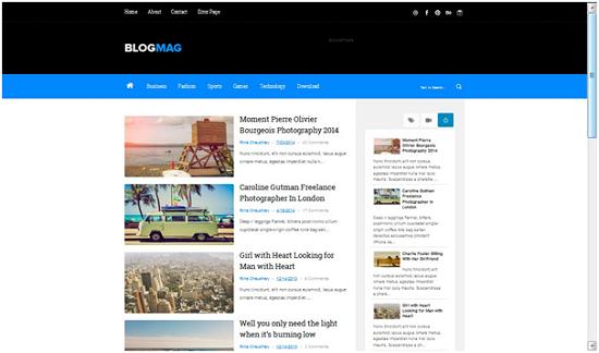 Template blog responsif, blog