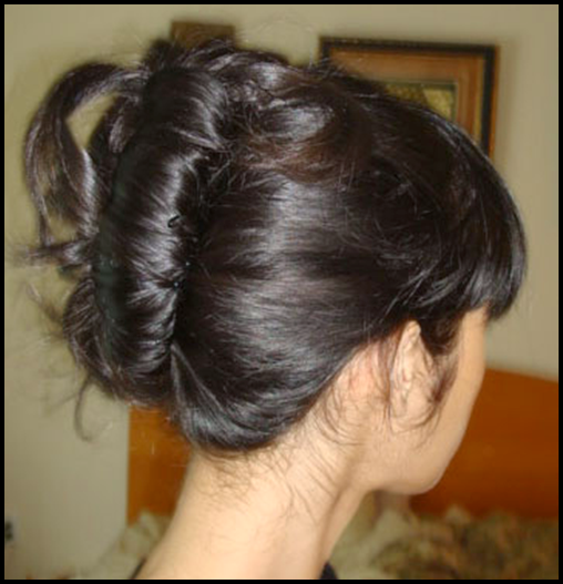 easy updo for thin hair