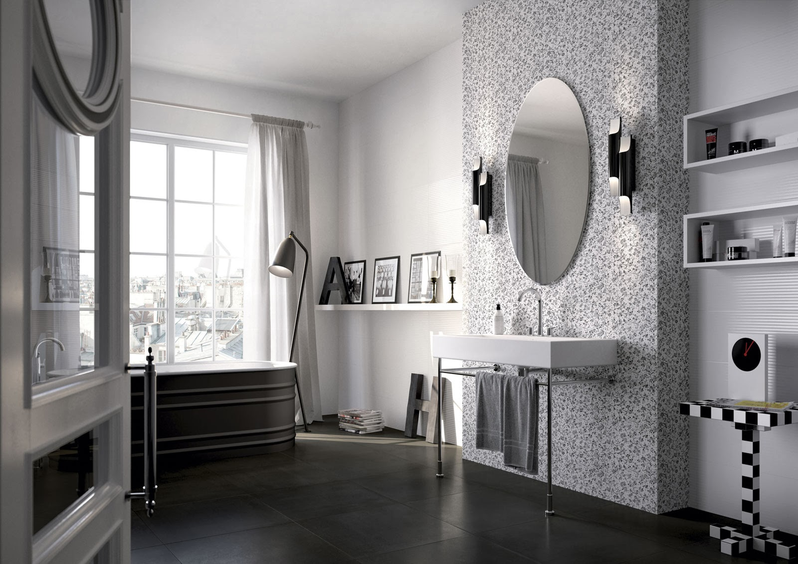 carrelage salle de bain aubade. Black Bedroom Furniture Sets. Home Design Ideas