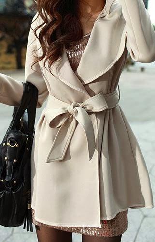 White Belt Coat