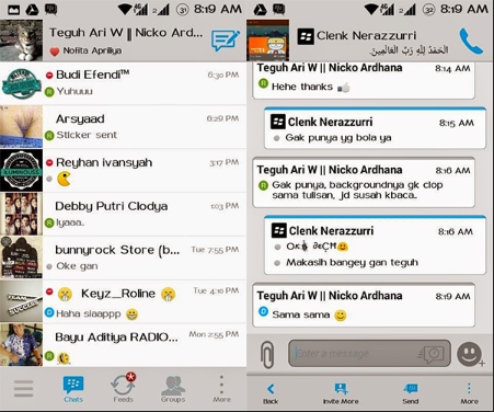2 BBM Mod Grey Moment dan Simple Solution v2.7.0.20 Terbaru