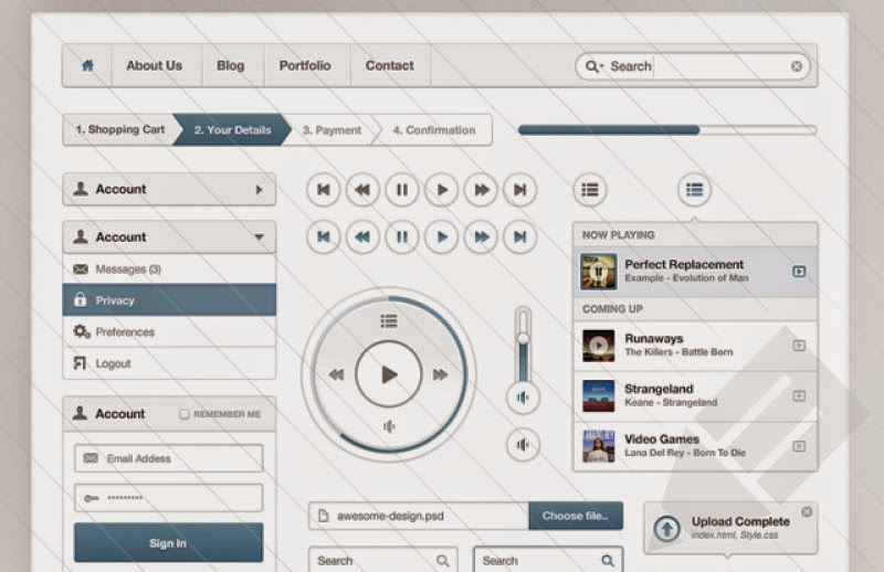 Prime UI Kit PSD
