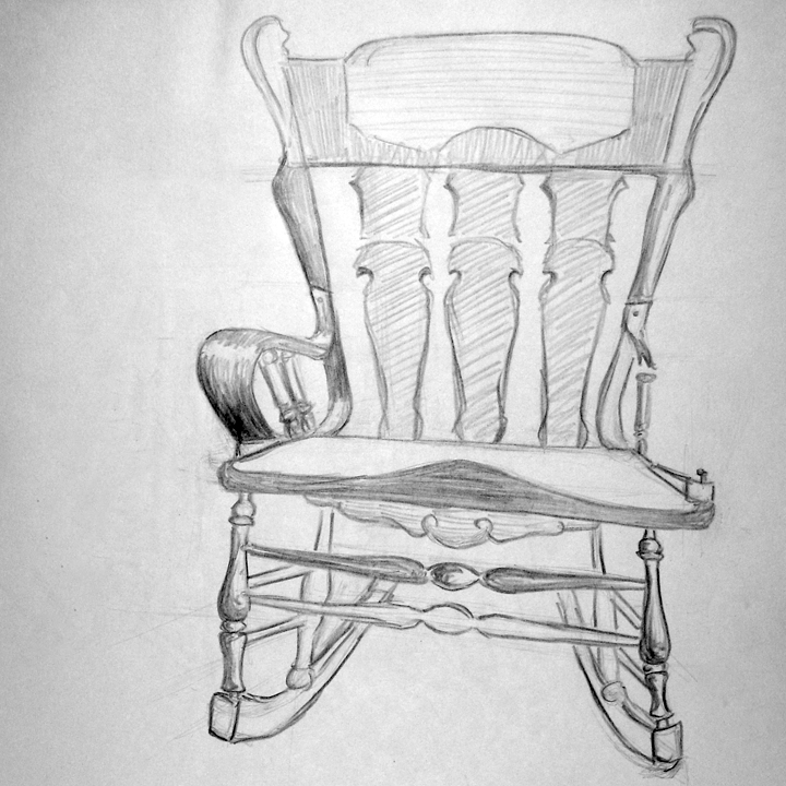 how to draw : rocking chair