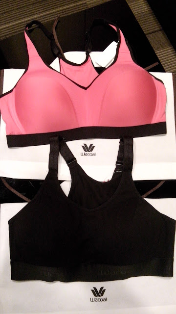 We got our proper measurement and tried the Wacoal Sports Bra. These are very stylish, comfy and functional!