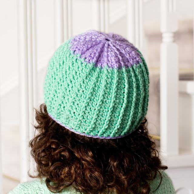 Crochet Beanie Pattern Ribbed : Hopeful Honey Craft, Crochet, Create: Lavender ~ 5 to 10 ...