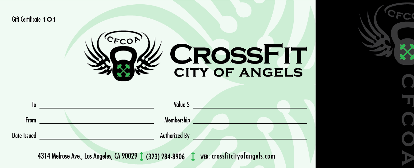 Who wants to give the Gift of Fitness – Fitness Gift Certificate Template