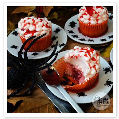 Halloween 2015: Cupcakes De Cerebro Sangriento / Bloody Brain Cupcakes