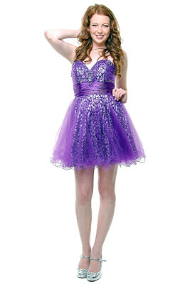 purple sparkle prom dress