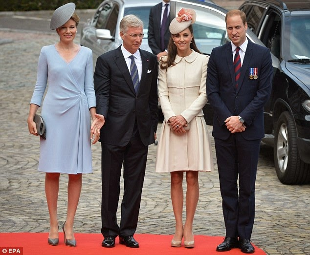 Kate and William with King Philippe and Queen Mathilde of the Belgians in Liege