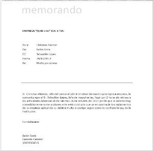 WORD Y SUS APLICACIONES (MEMORANDO)