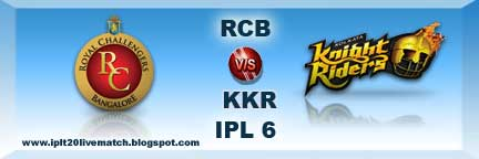 RCB vs KKR Watch Highlight Match and RCB vs KKR Full Scorecards