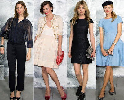 Veja o que as celebridades usaram no desfile da Chanel Couture 2012