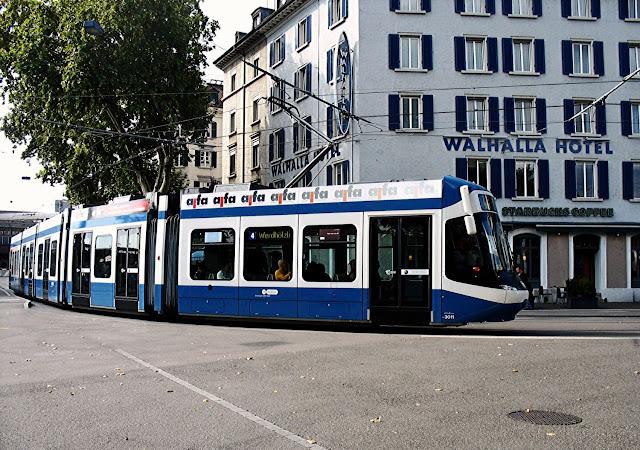 zurich tram near hotel