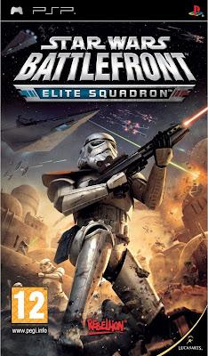 Free Download Star Wars Battlefront Elite Squadron PSP Game Cover