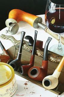 Bodegones con Pipas Botellas de Vino