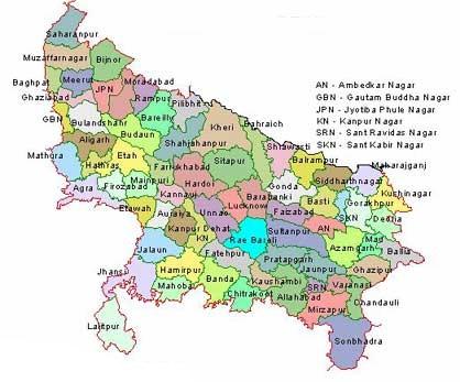 Uttar PradeshUP TourismUttar Pradesh Map