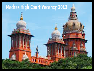 Madras High Court Recruitment 2013
