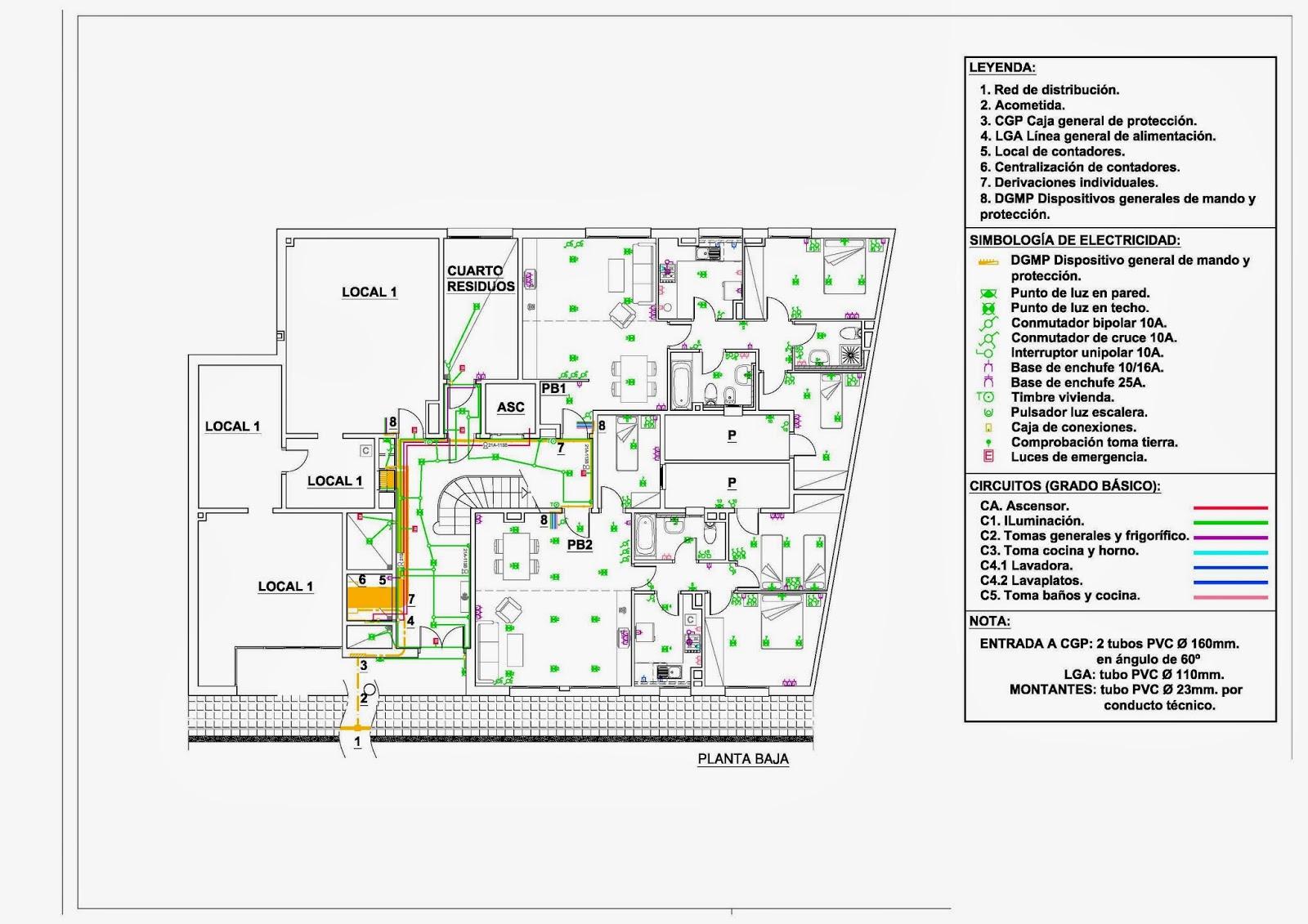 Blog profesional planos de instalaci n el ctrica en un for Plano instalacion electrica