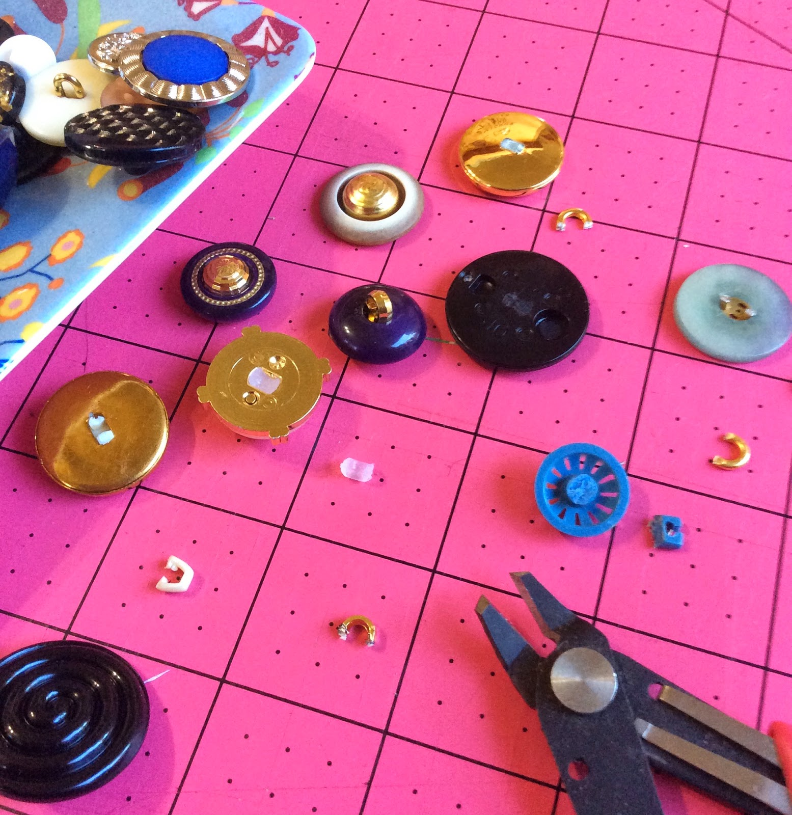 how to cut shanks off of buttons