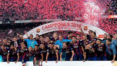 Lima Tropi Berhasil Dikantongi Barca Tahun 2015 ini di Camp Nou