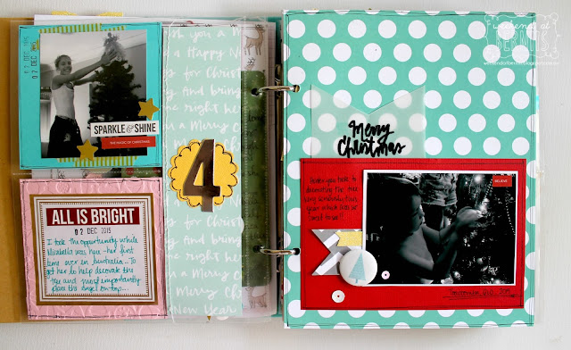 Document December mini album by Bernii Miller for The Stamp Spot.