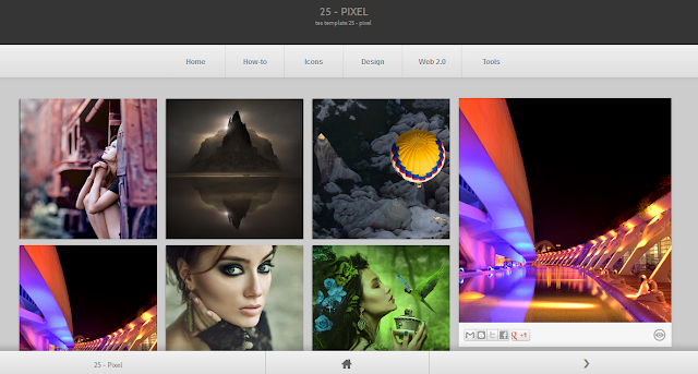 Pixel Gallery Blogger Template