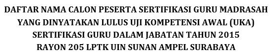 Hasil Uka Kemenag Rayon 205 Uin Sunan Ampel Surabaya Info Guru