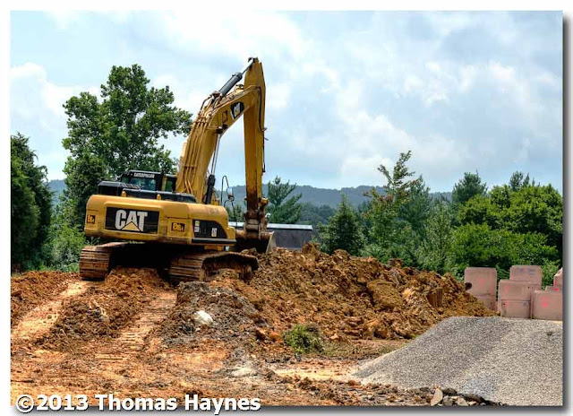 Caterpillar Hydraulic Excavator, super center site, Oak Ridge, Tenn., thomas haynes