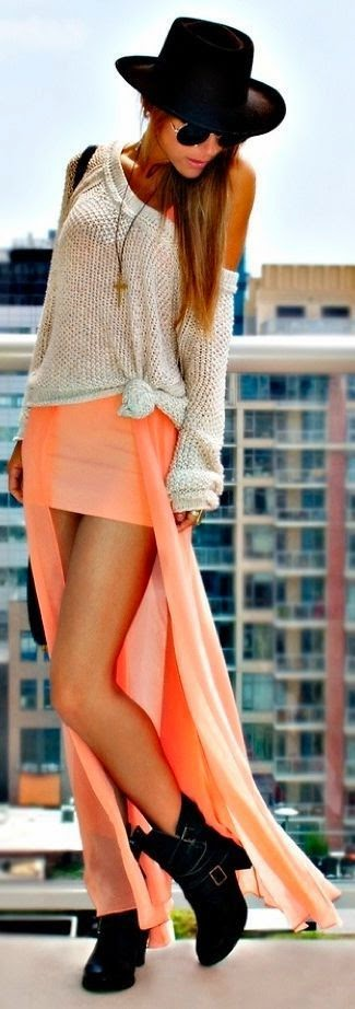 Pink Stylish Skirt Top Sweater