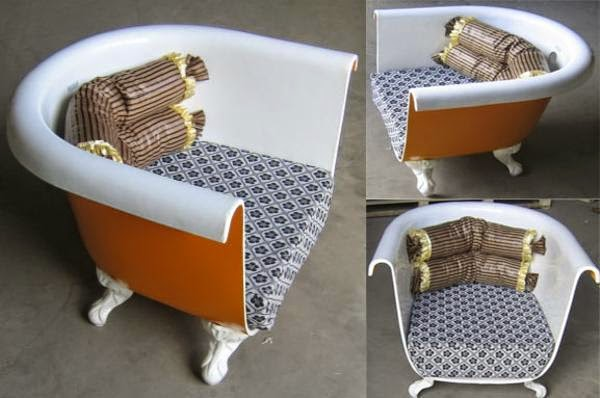 Id ias para reciclagem banheira reciclada poltrona for Sofa reciclado