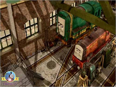 Sodor Island Vicarstown Diesel Works Den and Dart diesel engines new Thomas and friends characters