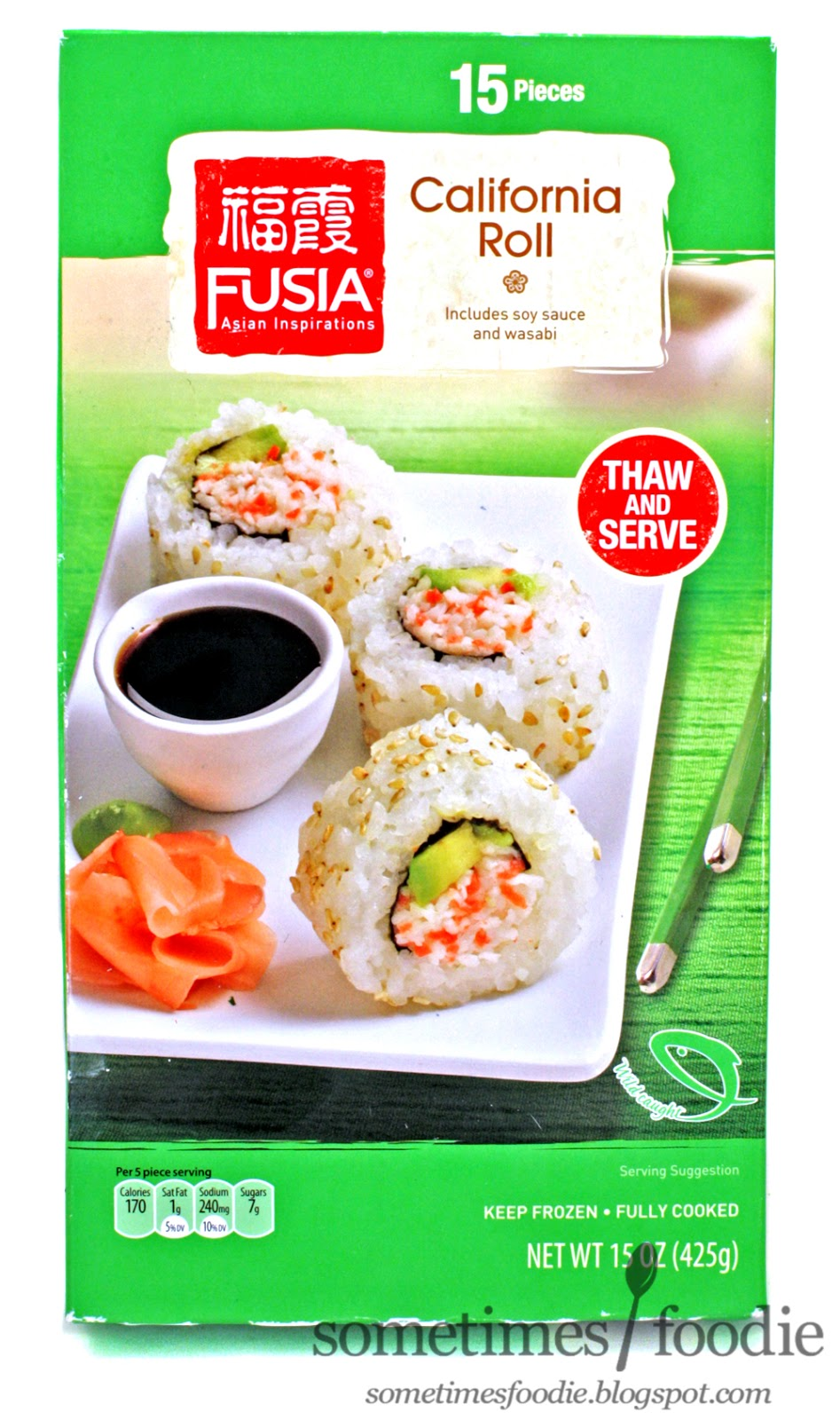 Sometimes foodie fusia frozen california rolls aldi for Frozen fish for sushi