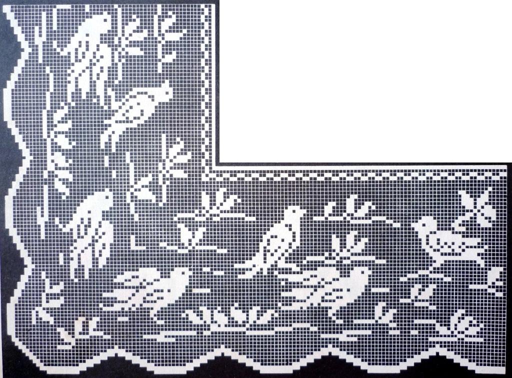 Филейное вязание бордюры 97