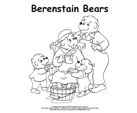 berenstain bears coloring pages printables 28 images