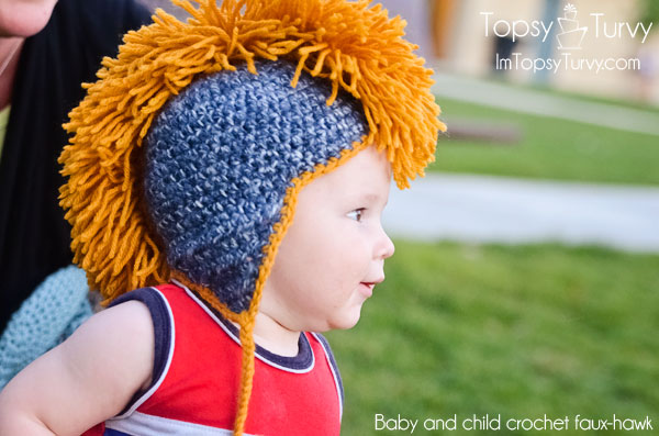 Someday Crafts: Faux Mohawk Crocheted Hat Pattern