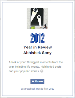 Facebook year reveiw - A look at your 20 biggest moments from the year including life events, highlighted posts and your popular storie