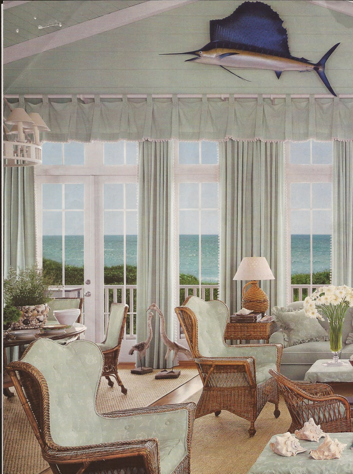The suzeday files dream cottage on the beach belclaire for Beach cottage interior colors
