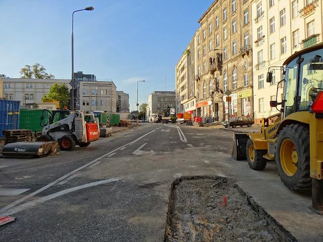 Budowa ronda u zbiegu ulic Kopernika i Świętokrzyskiej