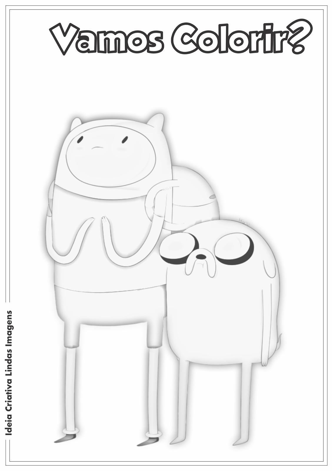 Desenho Hora de Aventura - Finn e Jake para colorir