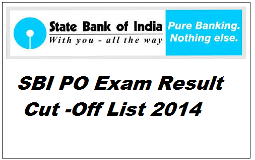 SBI PO Exam Result 2014 expected date. Candidates do not need to worry about sbi po written exam result of 2014 held in the month of June as State Bank of India is going to declare the sbi probationary officers exam result soon .Candidates can checkout their exam result of SBI PO 2014