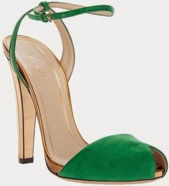 Gucci sandals, green Gucci sandals, summer sandals, Gucci ankle strap sandals